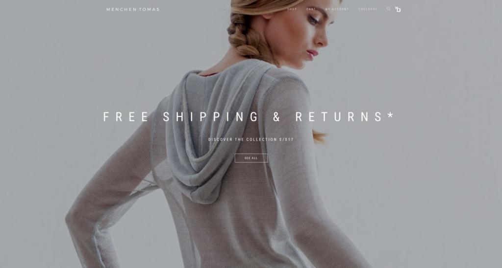 eshop website cover design