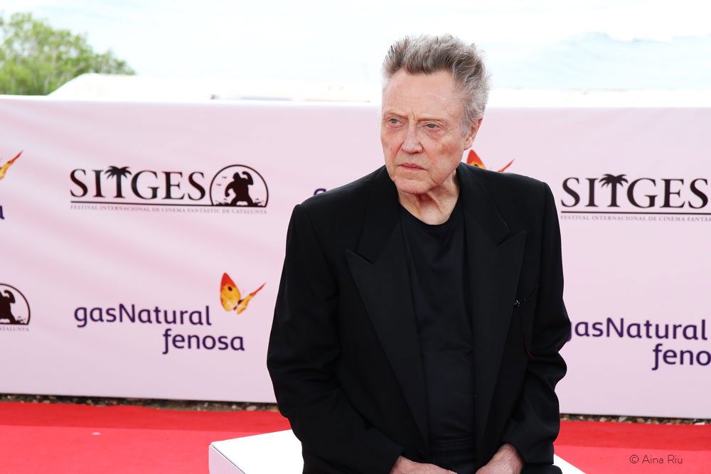 Christopher Walken at Sitges 2016. He received the Grand Honorary Award, the Festival's maximum prize.