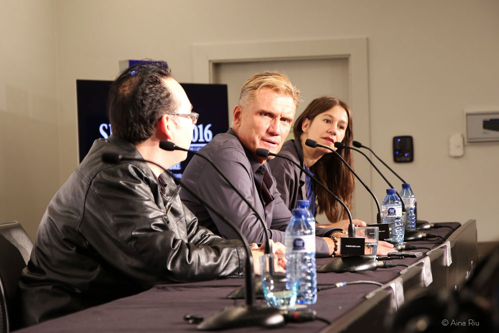 Dolph Lundgren at the press conference presenting the film 'Don't kill it'