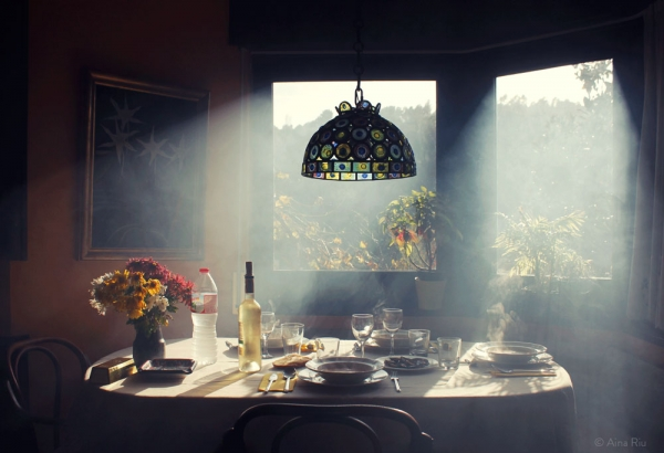 Kitchen scene under smoke - Aina Riu