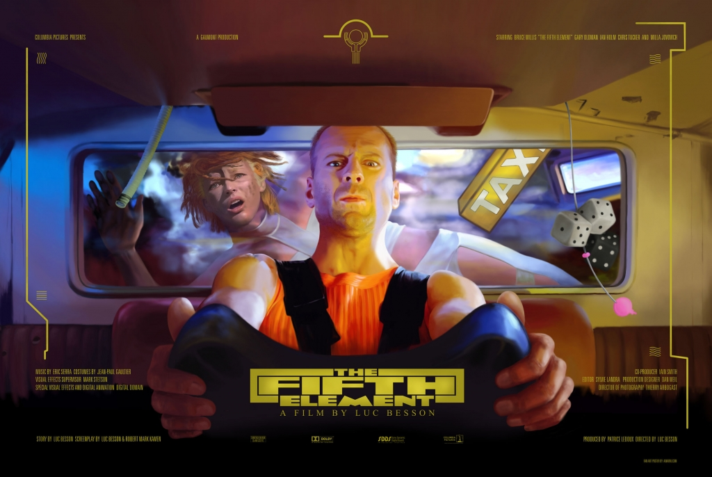 the fifth element unofficial movie poster art